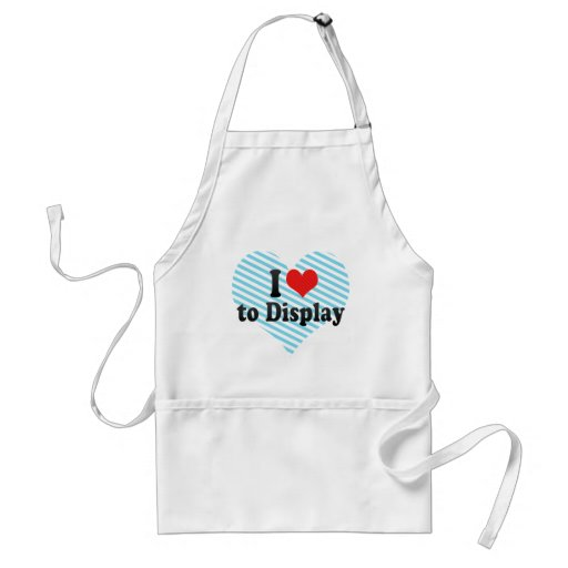 I Love to Display Apron