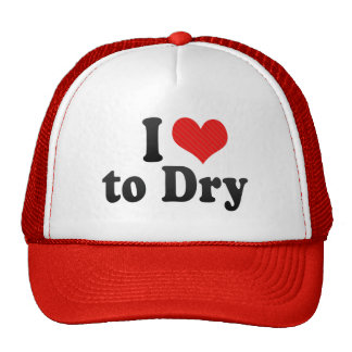 I Love to Dry Hat