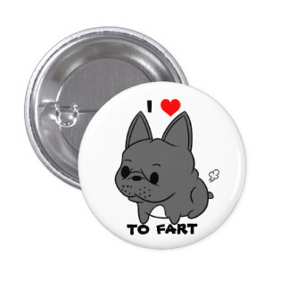 I Love to Fart Button (Black)