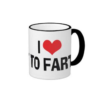 I Love To Fart Coffee Mugs