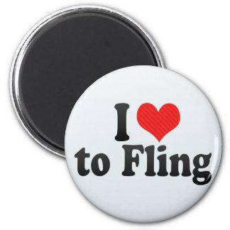 I Love to Fling Refrigerator Magnet
