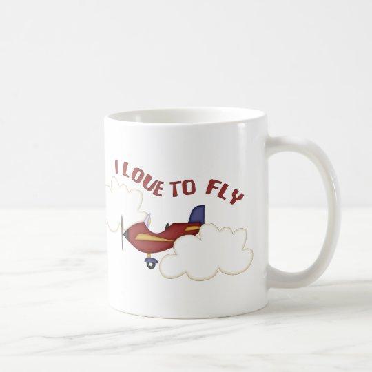 I Love To Fly Coffee Mug