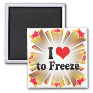 I Love to Freeze Fridge Magnets