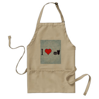 I Love To Have Burger And Soda Standard Apron
