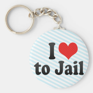 I Love to Jail Key Chain