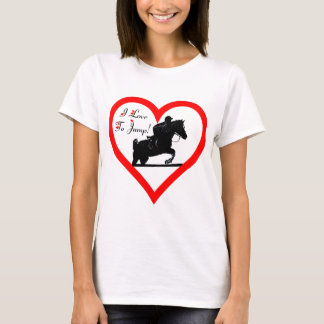 I Love To Jump! Heart with Horse T-Shirt