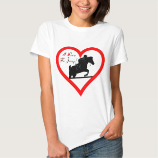 I Love To Jump! Heart with Horse Tee Shirts