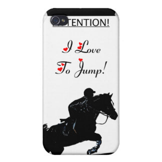 I Love To Jump! Horse 4/4S  iPhone 4 Cover