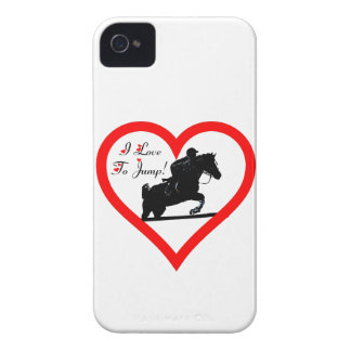 I Love To Jump! Horse iPhone 4/4S ID Case