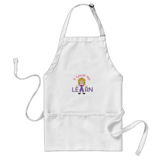 I LOVE TO LEARN STANDARD APRON