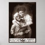 I Love to Love a Mason, 1908 Poster