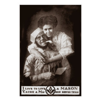 I Love to Love a Mason, 1908 Poster