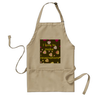 I Love to Make Reservations Aprons