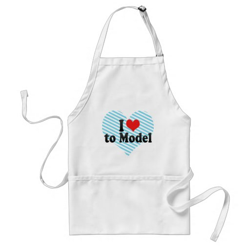 I Love to Model Aprons