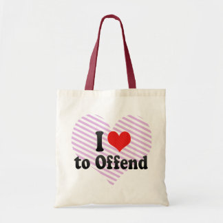 I Love to Offend Canvas Bags