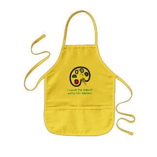 I LOVE TO PAINTWITH MY DADDY KIDS APRON