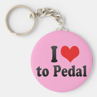 I Love to Pedal Keychain