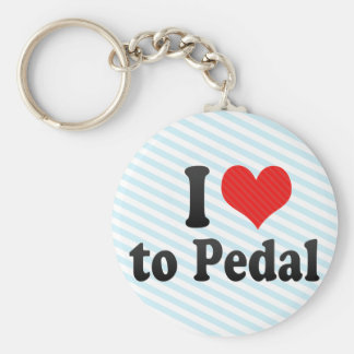 I Love to Pedal Keychains