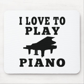 I Love To Play Piano Mousepad