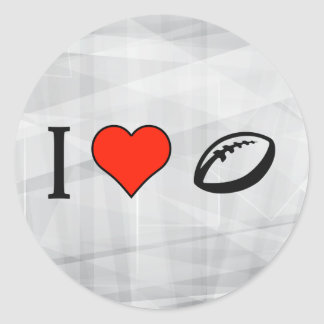 I Love To Play Rugby Round Sticker