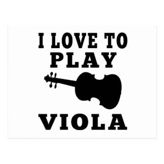 I Love To Play Viola Postcard