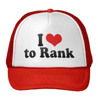 I Love to Rank Hats