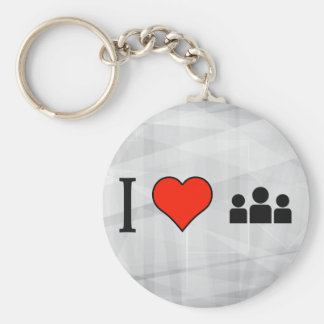 I Love To Read About Us Basic Round Button Key Ring