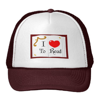 I Love To Read Cap