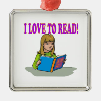 I Love To Read Christmas Ornament