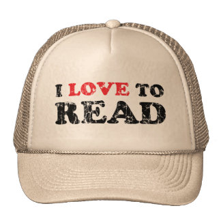 I Love To Read Distressed Cap
