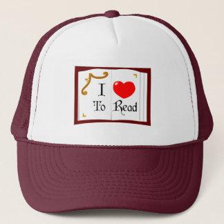 I Love To Read Trucker Hat