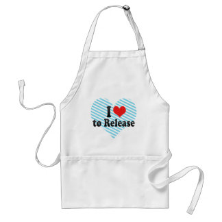 I Love to Release Aprons
