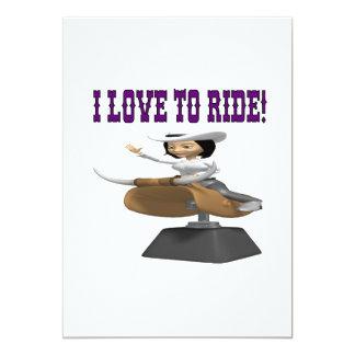 I Love To Ride 2 13 Cm X 18 Cm Invitation Card