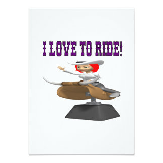 I Love To Ride 3 13 Cm X 18 Cm Invitation Card