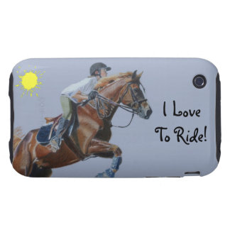 I Love To Ride! Equestrian Horse iPhone 3G Case- iPhone 3 Tough Cases