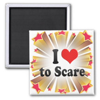I Love to Scare Refrigerator Magnets
