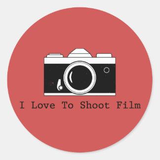 I Love To Shoot Film Classic Round Sticker