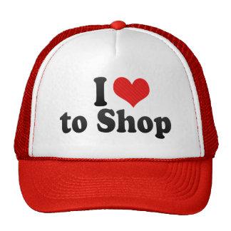 I Love to Shop Trucker Hats