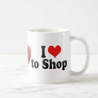 I Love to Shop Coffee Mugs