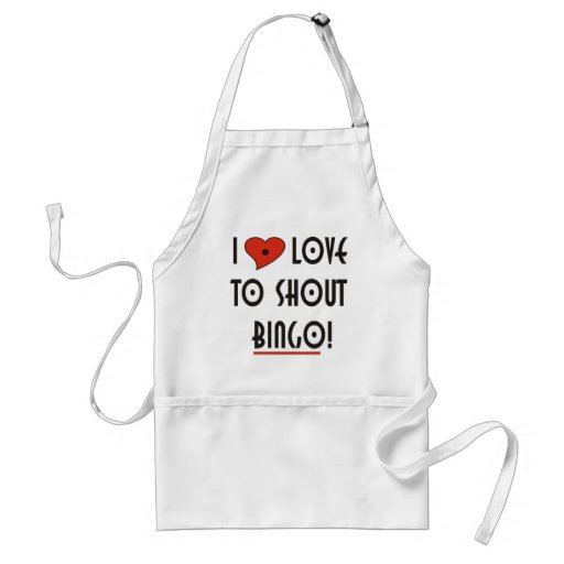 I Love to Shout  BINGO Apron
