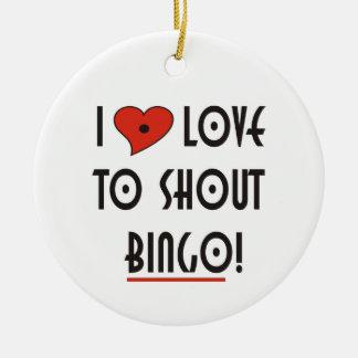 I Love to Shout Bingo Christmas Ornament