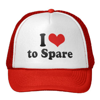 I Love to Spare Hats