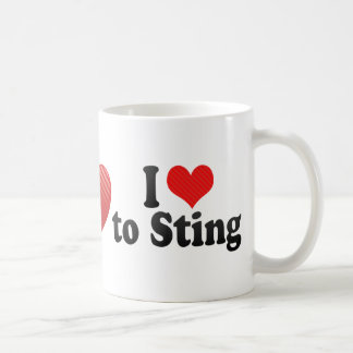 I Love to Sting Coffee Mugs