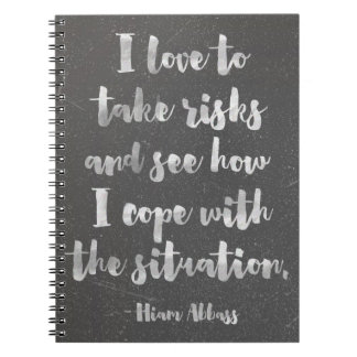 I Love To Take Risks Quote Notebook