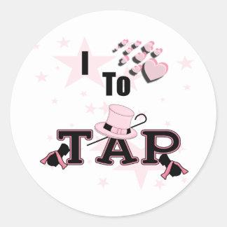 I Love to Tap Dance Classic Round Sticker