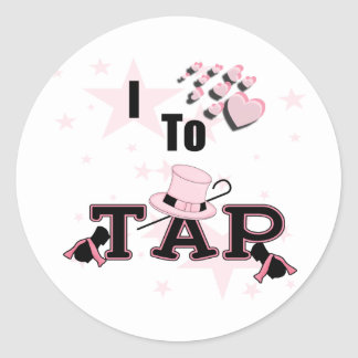 I Love to Tap Dance Round Sticker