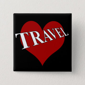 I Love To Travel 15 Cm Square Badge