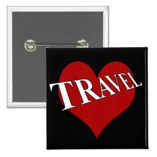 I Love To Travel 15 Cm Square Badge