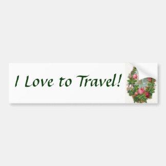 I Love to Travel! Bumper Sticker Car Bumper Sticker