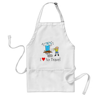 I love to travel T-shirts and Gifts. Standard Apron
